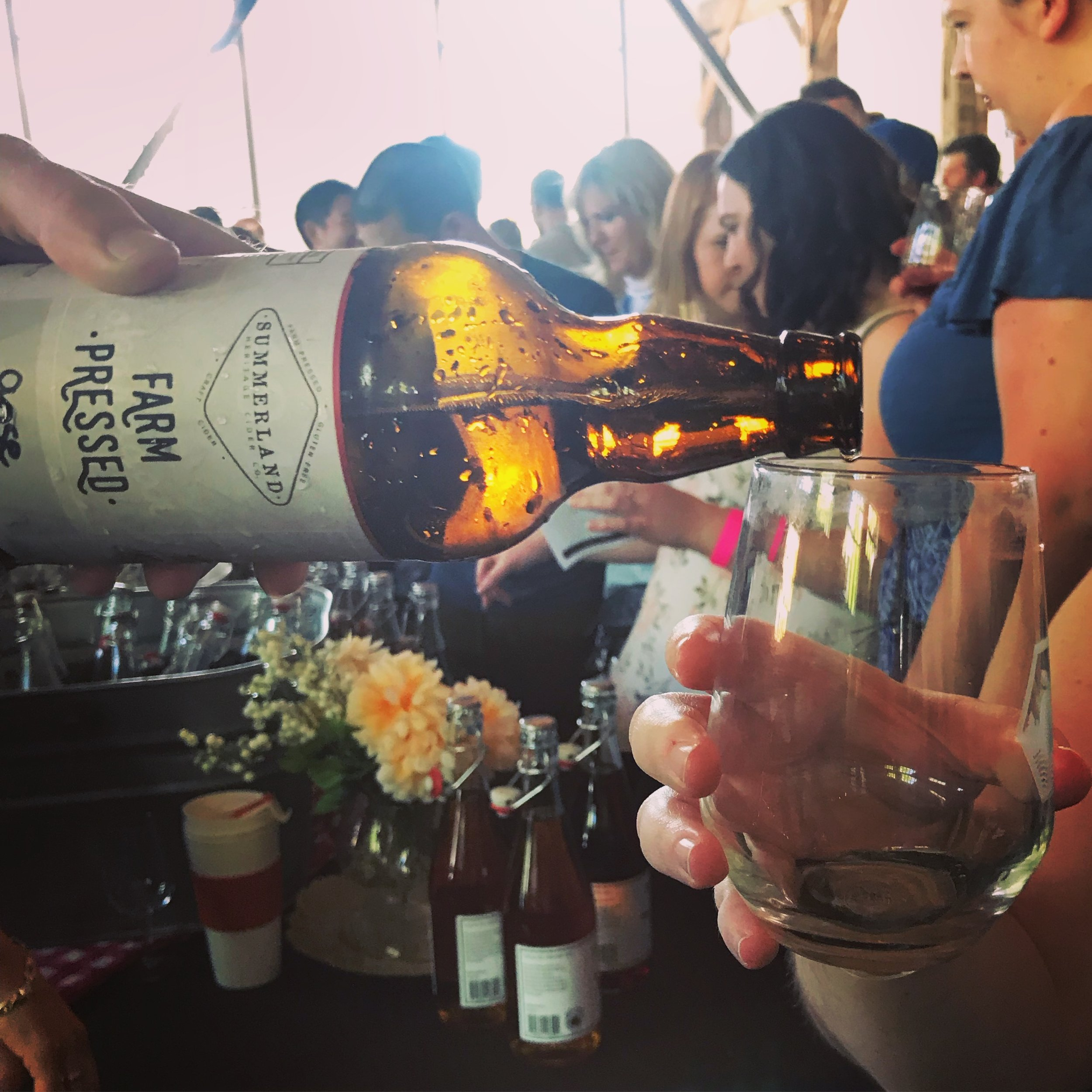 Showcasing our small-batch Gose Style Cider at last year's BC Cider Festival