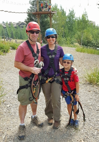 Ropes course in Teton Village, Wyoming