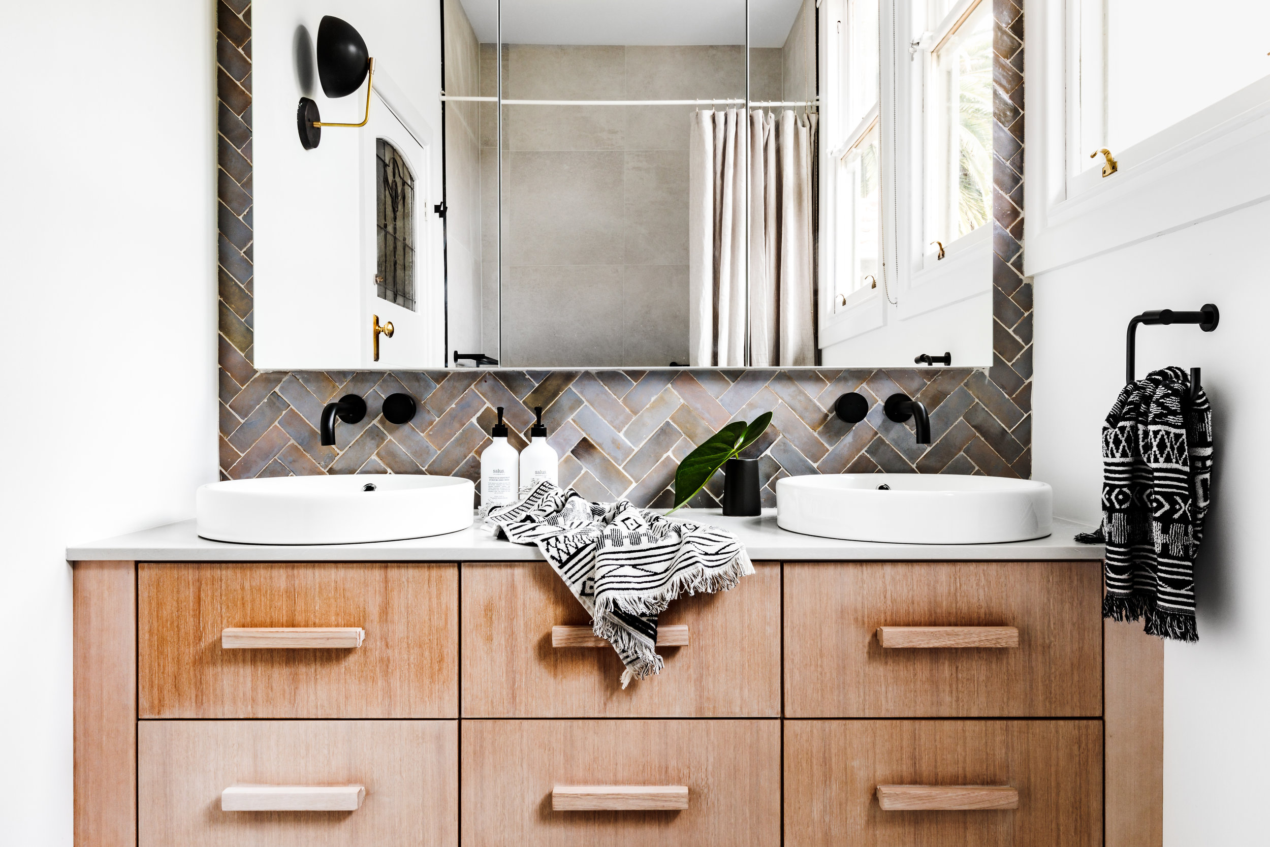 Interior Design -   Studio Ezra    Tiles -   Tiles of Ezra    Benchtop -   Caesarstone