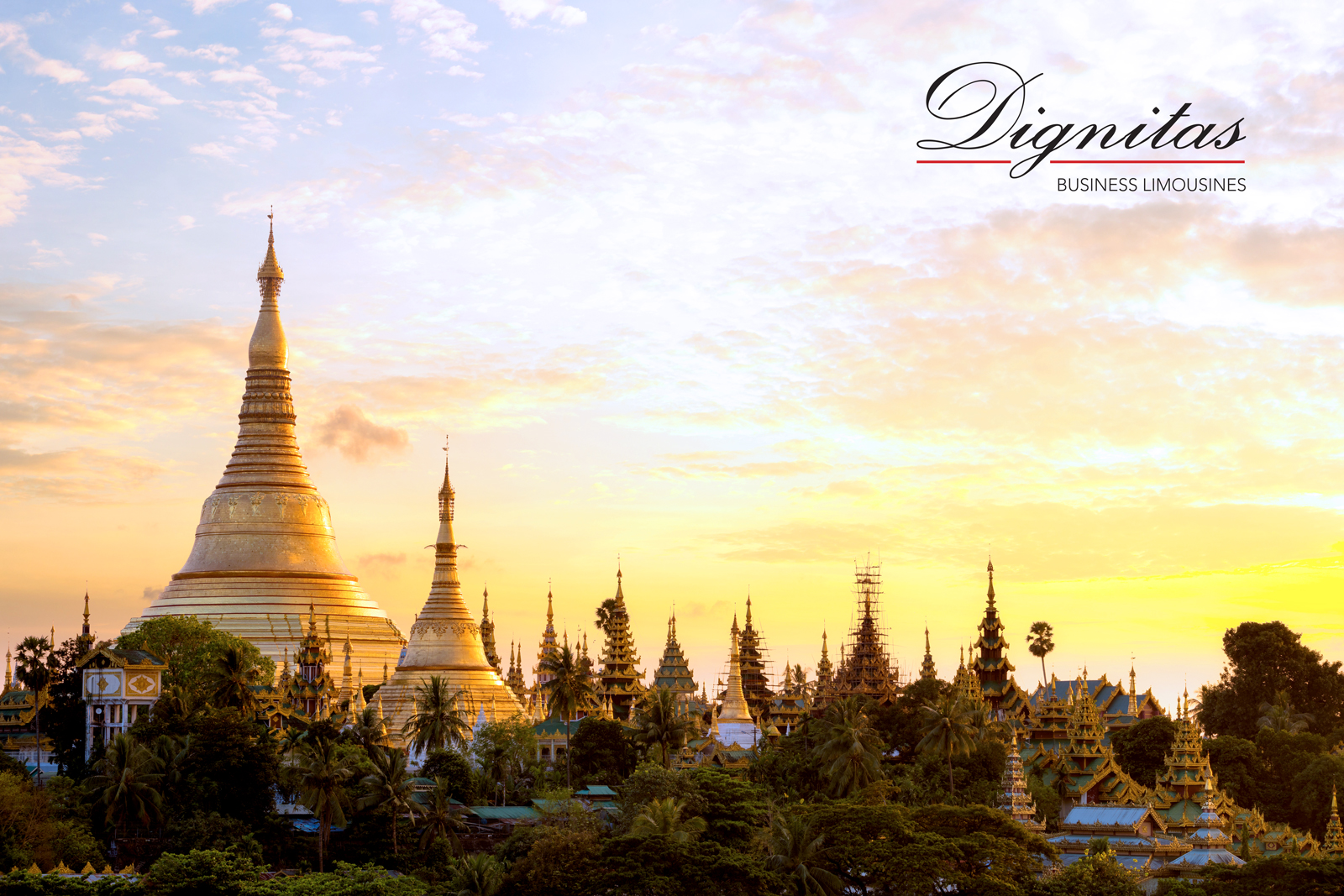 The Shwedagon Pagoda located in Yangon, Myanmar.