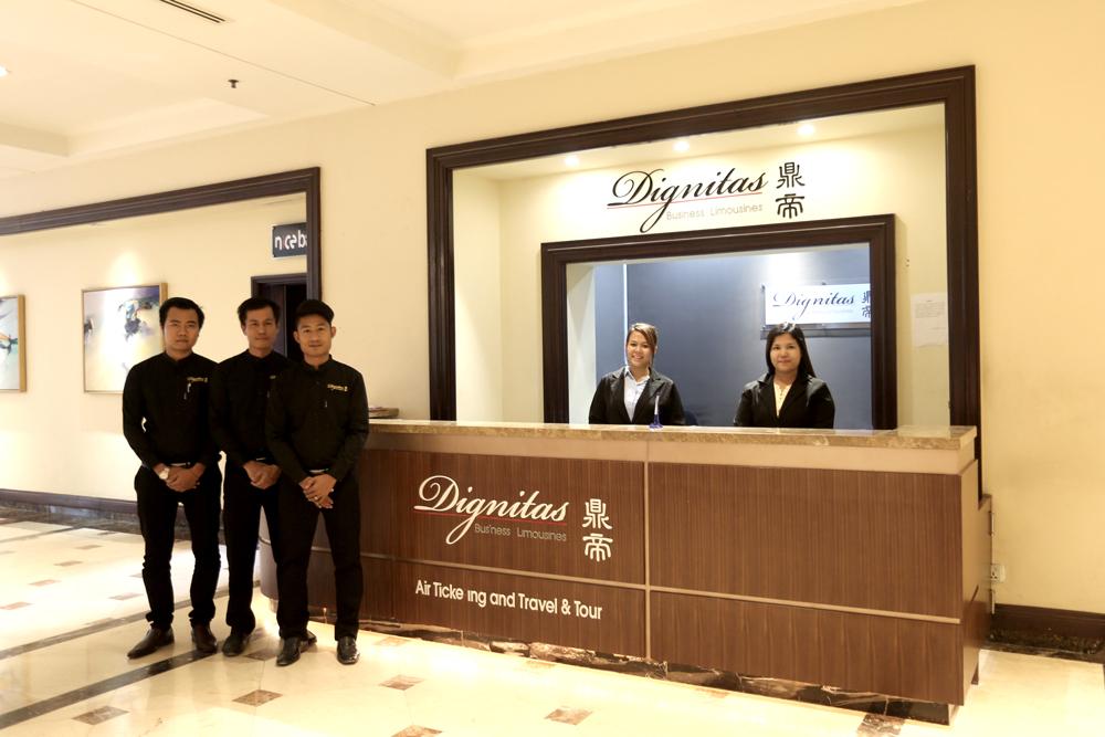 The Dignitas Travel Desk located in Sedona Hotel lobby
