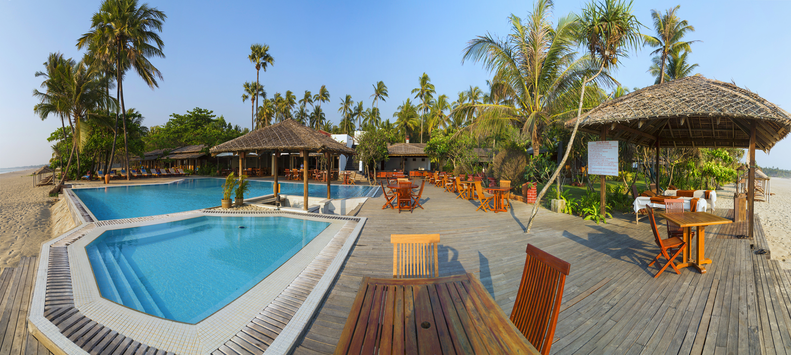 One of the luxury resorts in Ngwe Saung, west coast of Myanmar