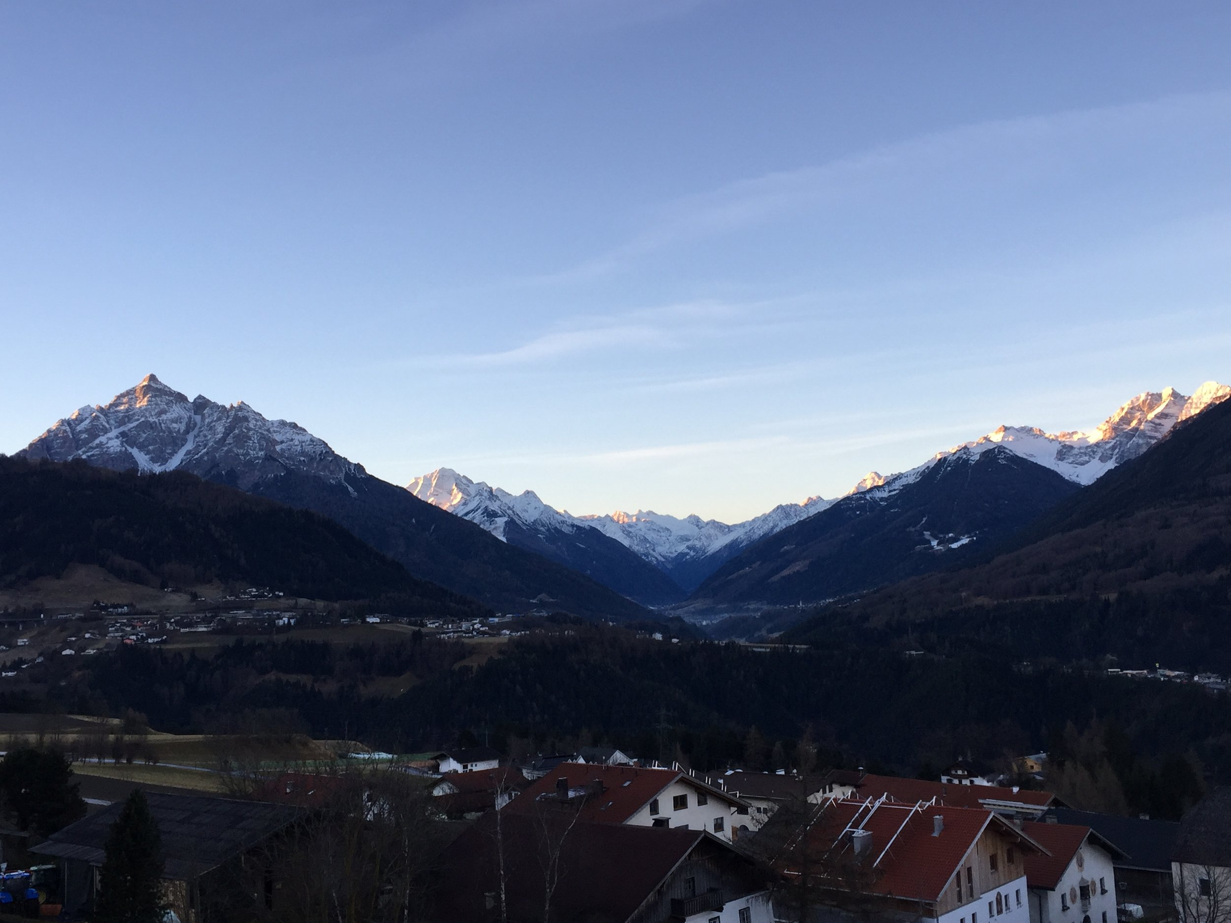 Spectacular view from our hotel in Austria