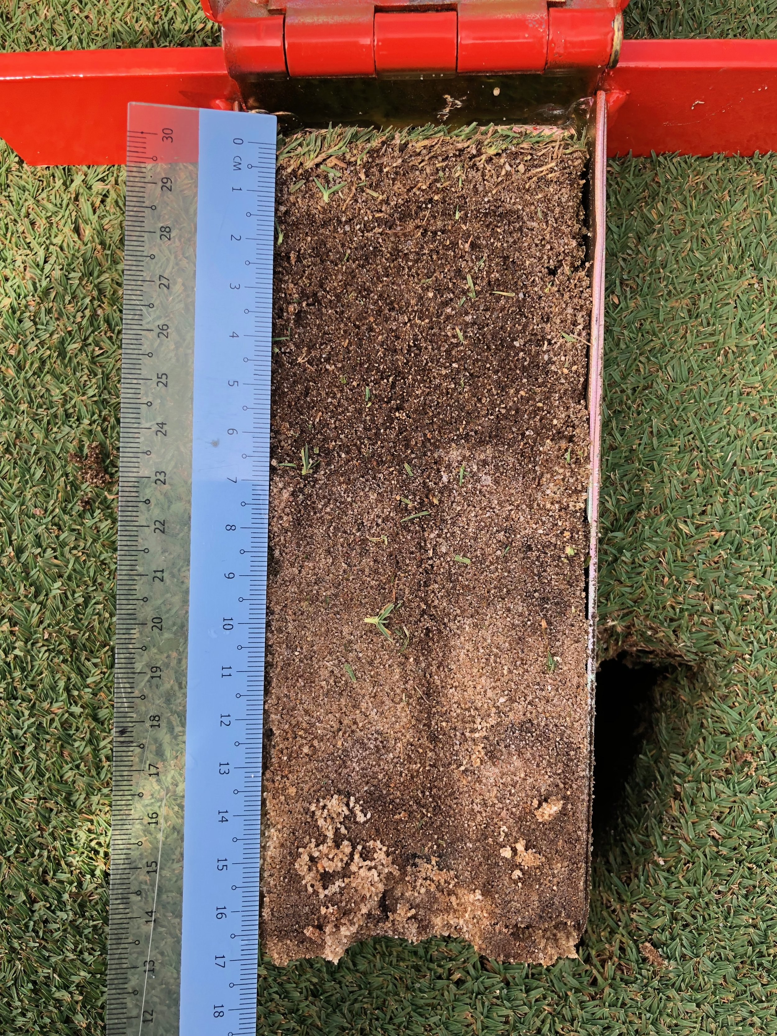 It is difficult to visually measure the organic matter content in a diluted soil profile accurately.