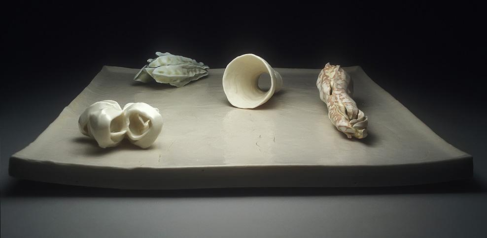 "<i>Memory in Winter</i>, porcelain, h. 4"" x w. 17 1/4"" x d. 17 1/4"", 2002"