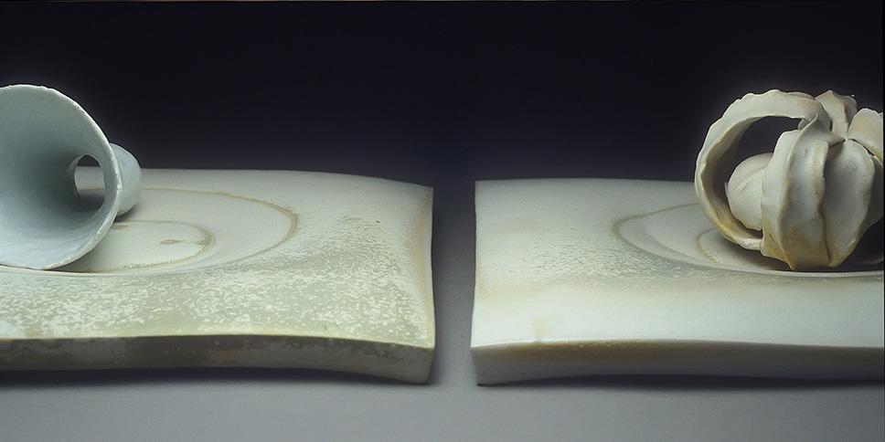 """<i>White Memory, Segments</i>, porcelain, h. 3 3/4"""" x w. 23"""" x d. 11"""", 2002"""