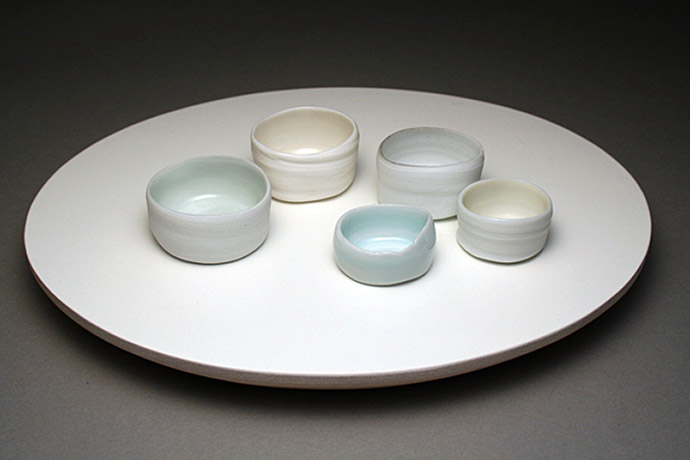 "<i>of a moon garden: january II</i>, porcelain, h. 1 3/4"" x w. 9"" x d. 7"". 2007"