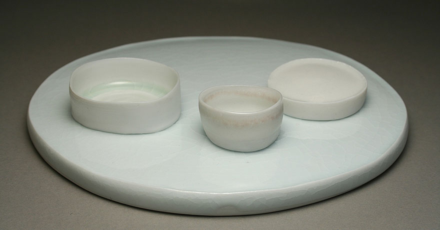 "<i>of a moon garden: december I</i>, porcelain, h. 1 1/2"" x w. 7 1/2"" x d. 5 3/4"", 2006"