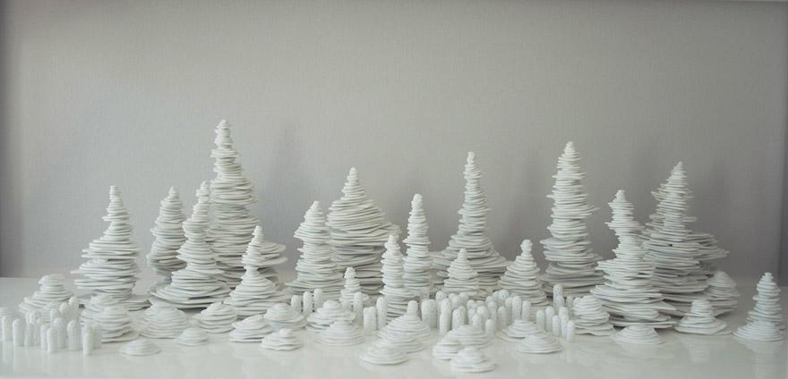 <i>Ceng Ceng Shan</i>, porcelain, size variable, 2013