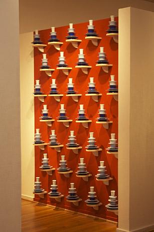 <i>Thresholds/Blue Mountain (2nd version)</i>, porcelain, wheel-thrown &amp; trimmed, dimension variable, 2013