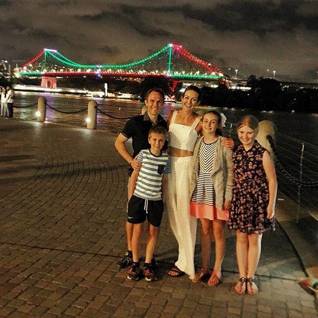 Family trip into the city to watch the Christmas parade and City Hall light show 🎄🎅🌟 #Christmas #Santa #family