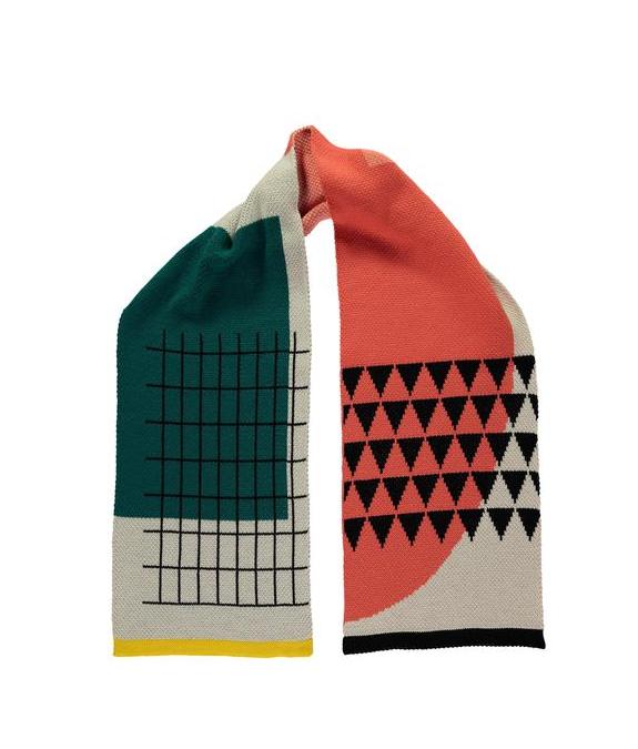Miss Pom Pom Mondrian Scarf  - £39