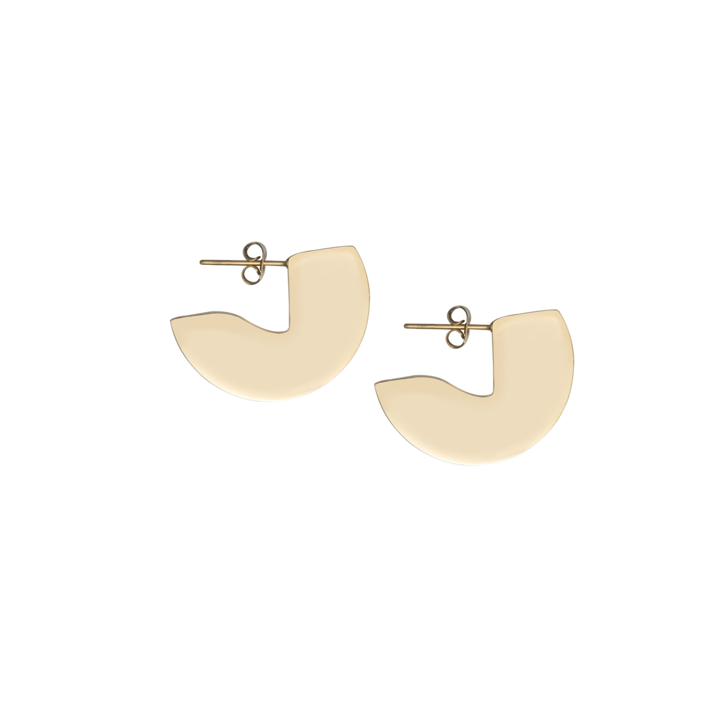 A Weathered Penny Gold Curved Earrings, £20
