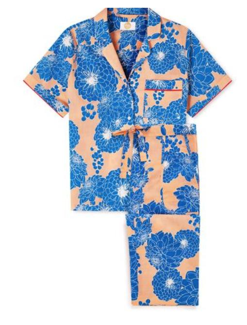 Dahlia Print Cotton Pyjamas , £140