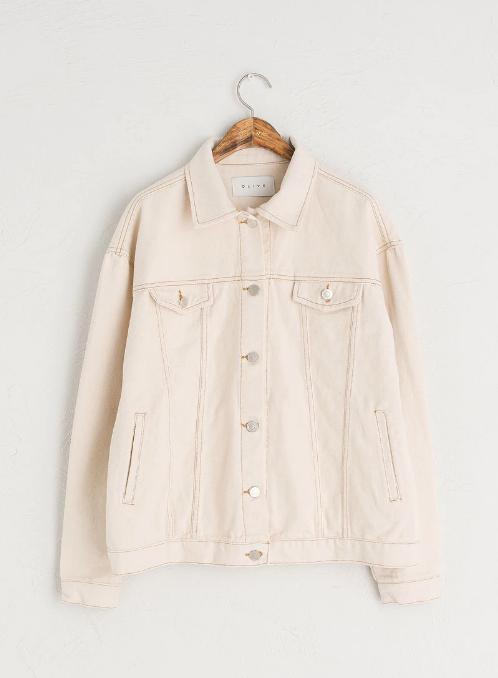 Ivory Denim Jacket - £79