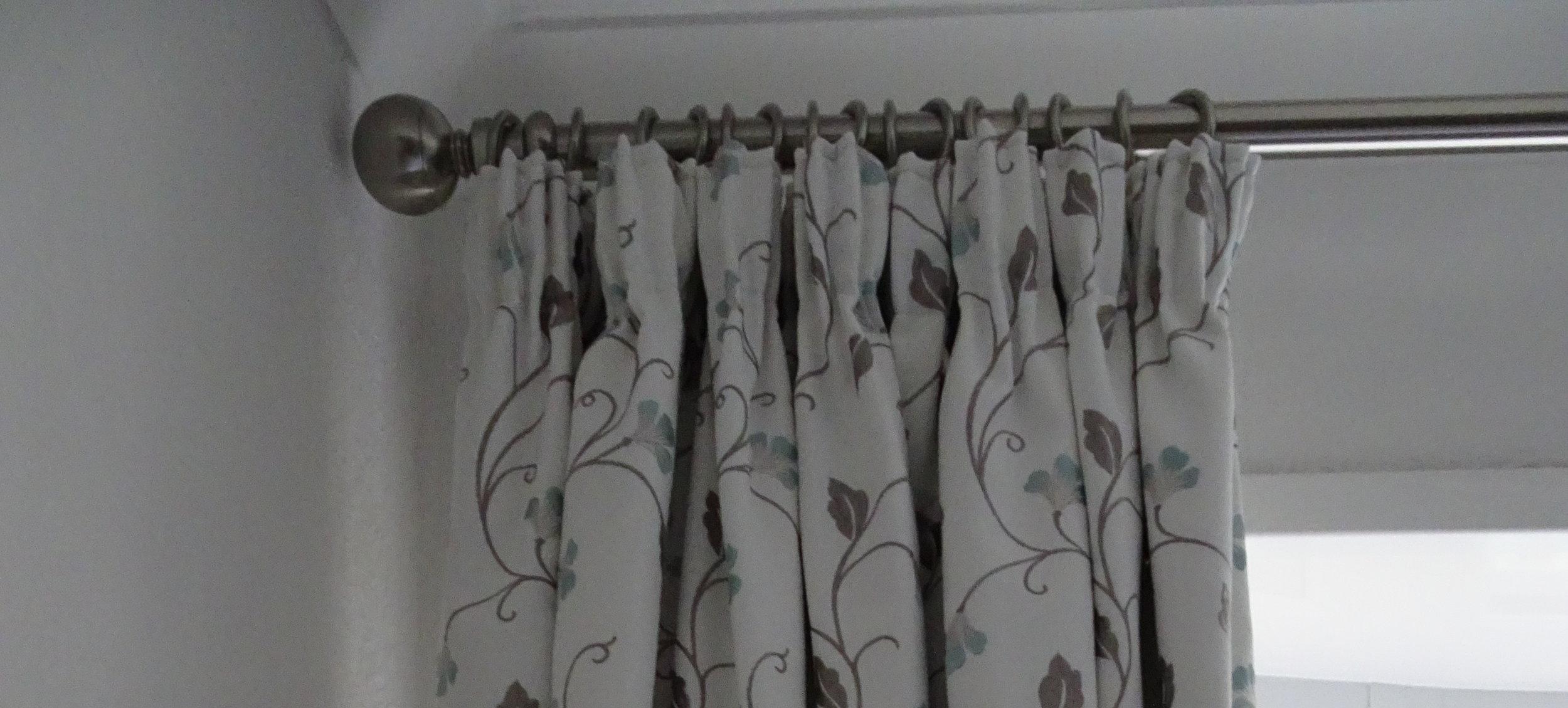 Floral cream curtains
