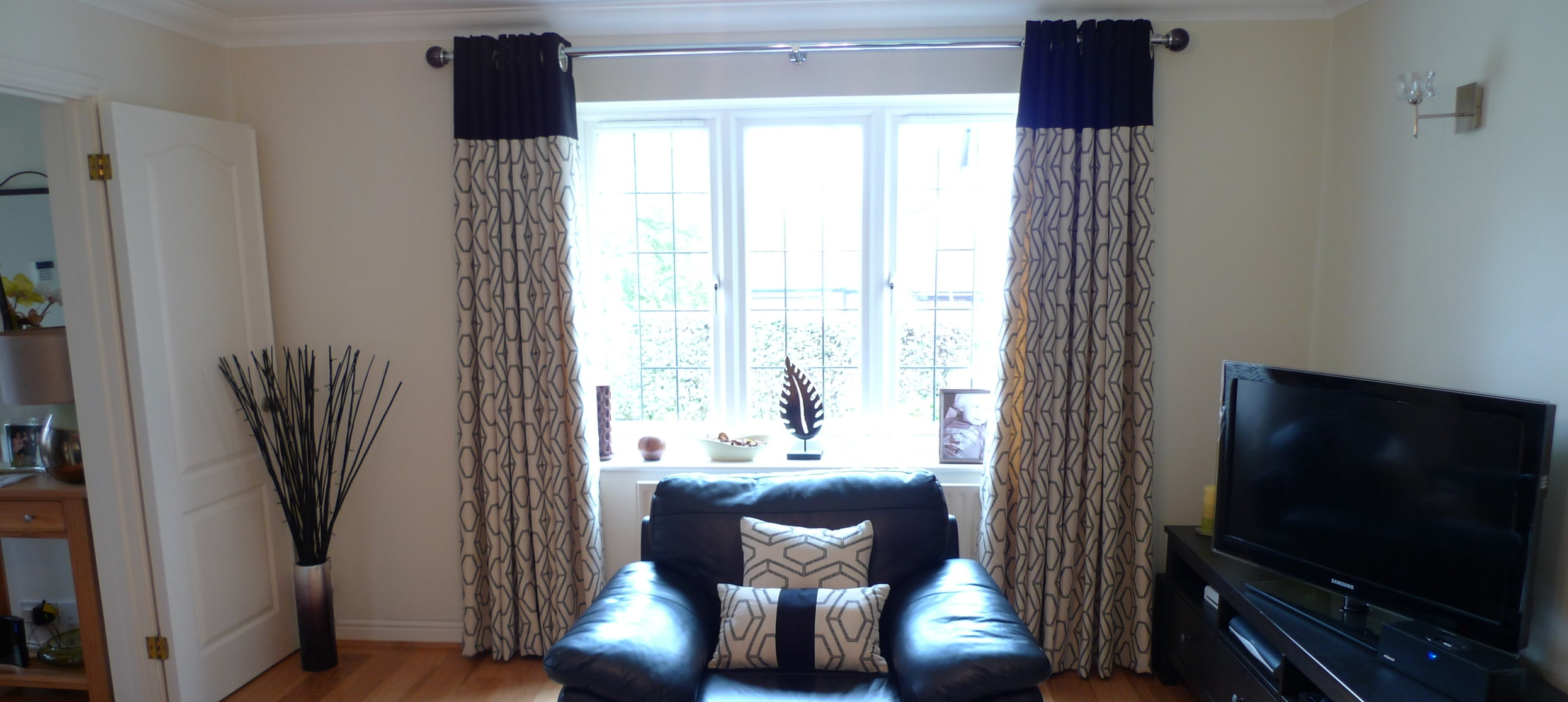 Ring top curtains for a big window