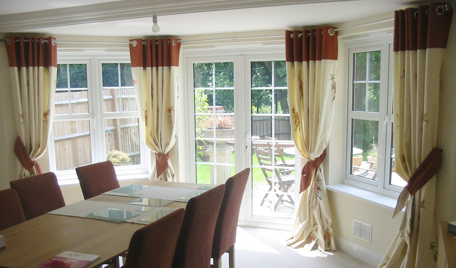 eyelet curtains for dining room