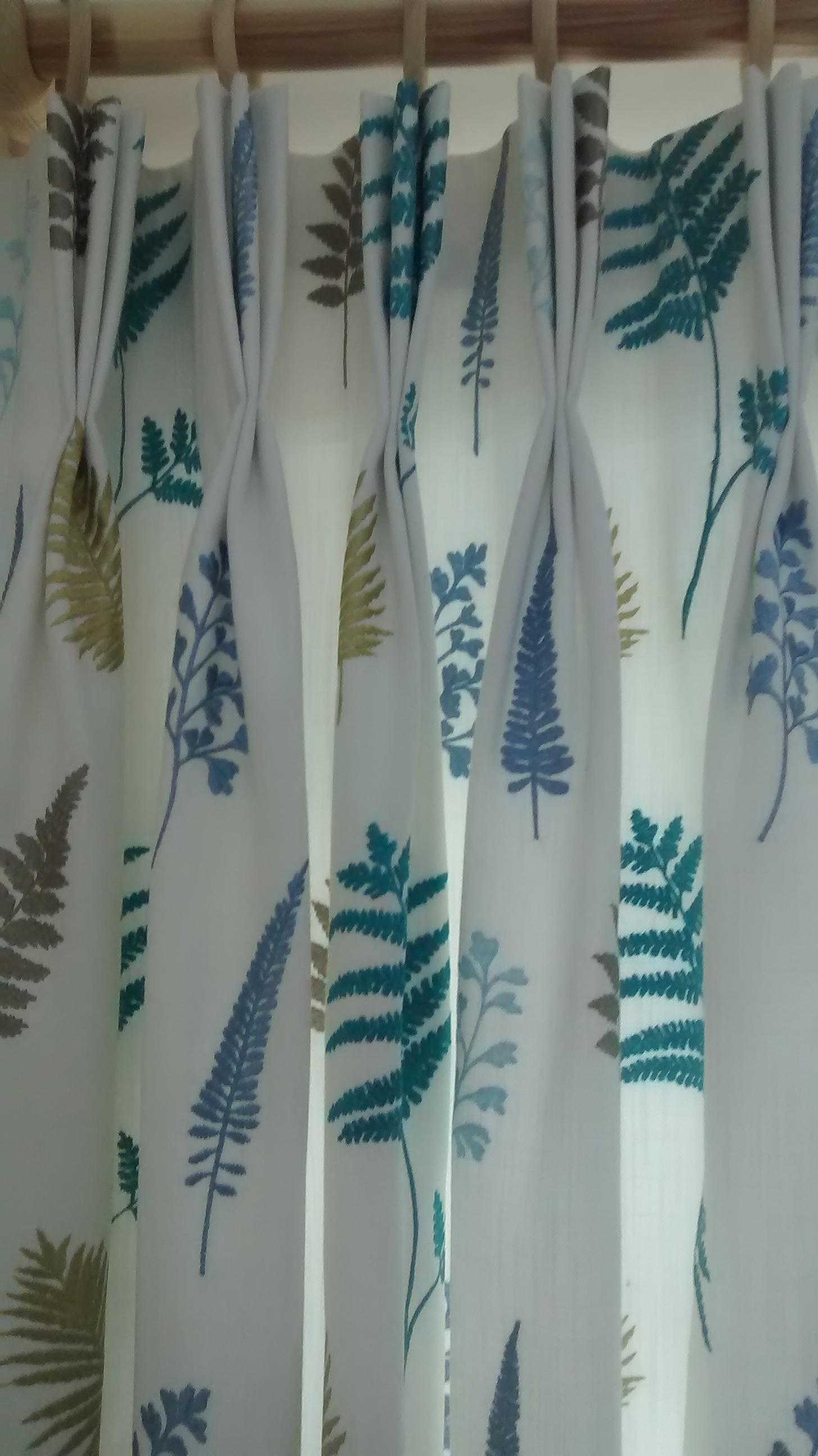 fern design curtains