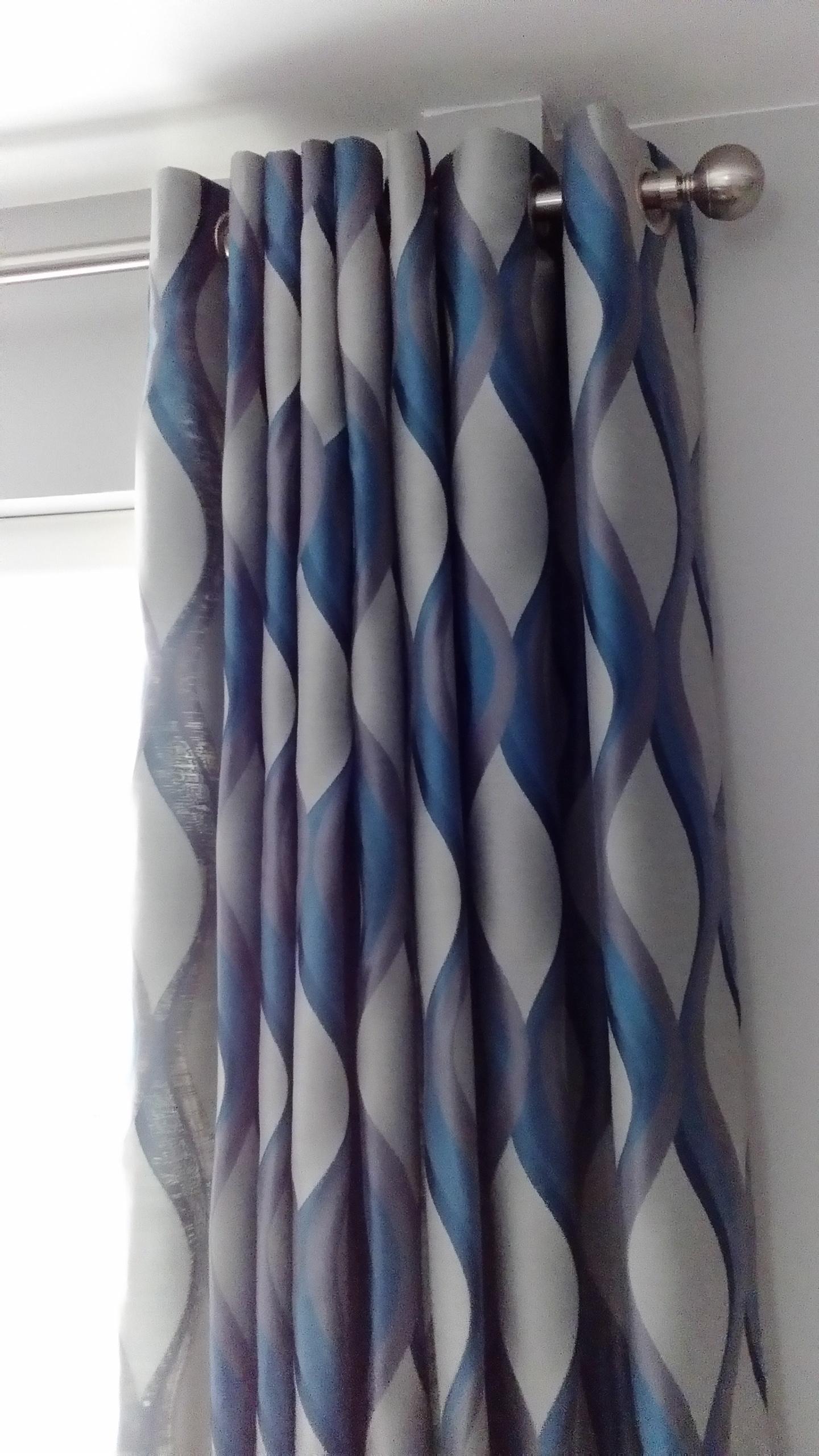 wave design curtains