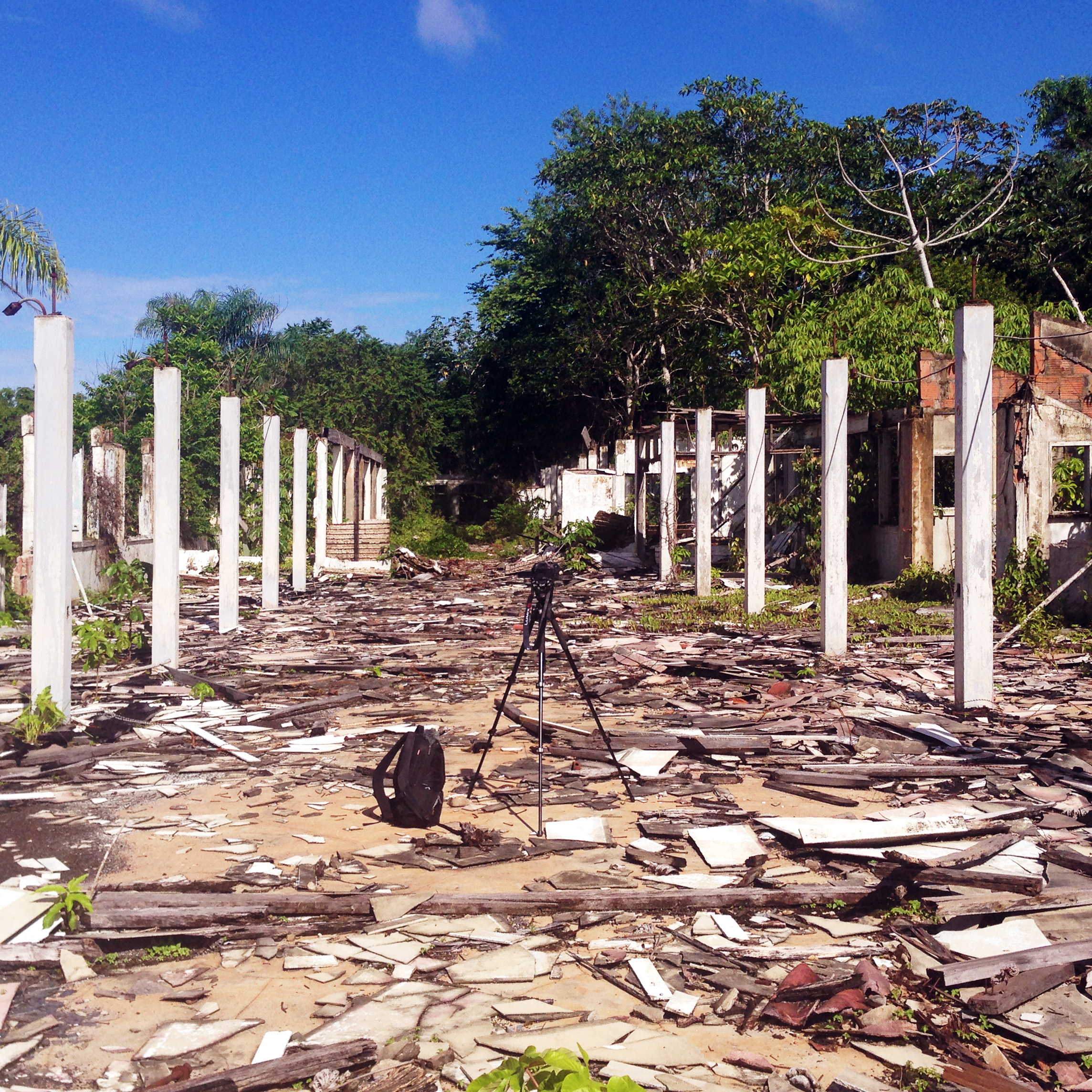 The remains of the once most modern hospital in Brazil.