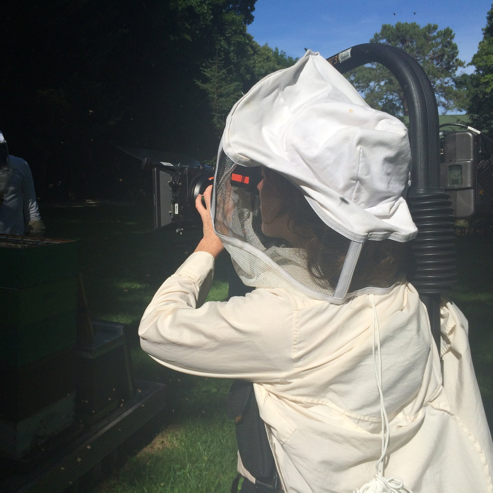 Arianna Bees Filming.JPG