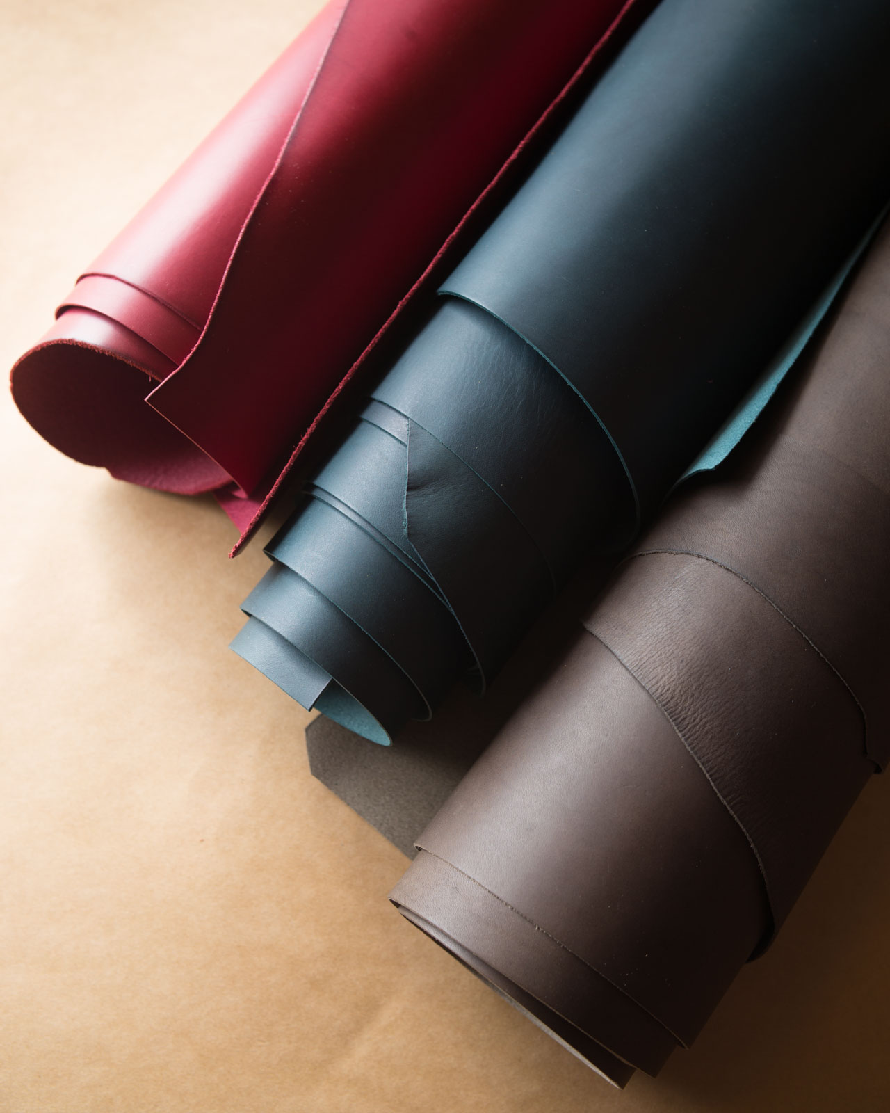 Berry red, prussian blue, slate grey