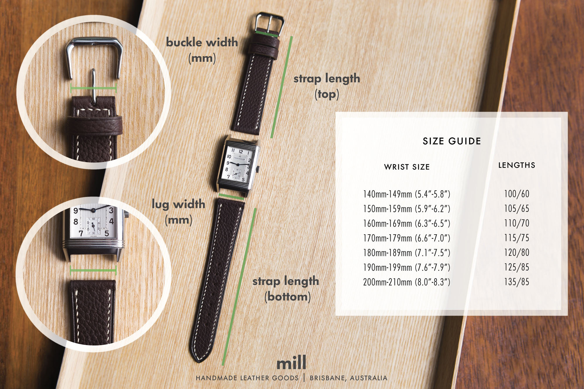 Sizing guide.