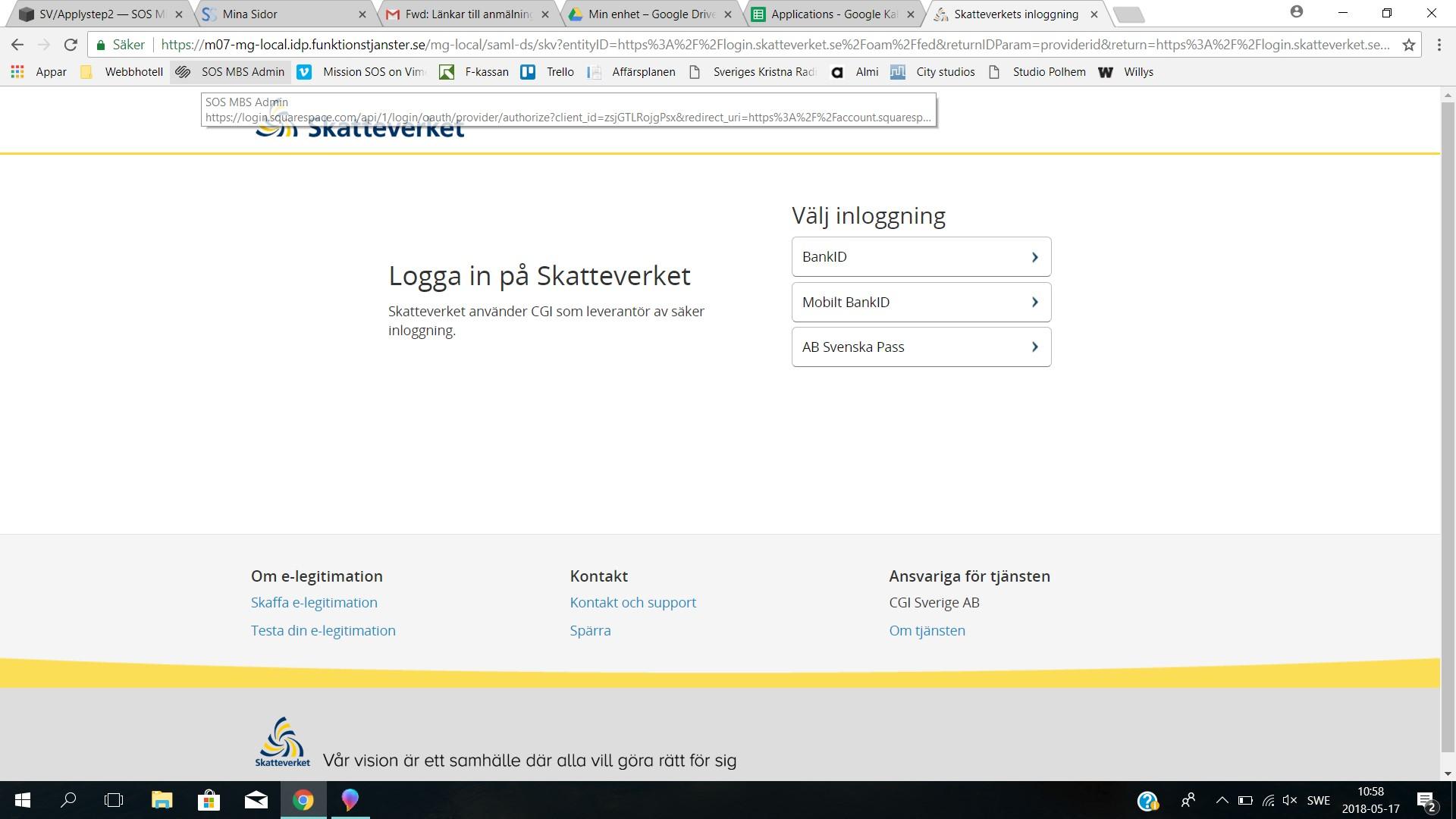 ….    STEP 2   Log in with your choice of method.  ..   STEG 2   Logga in med valfri inloggningsmetod.  ….