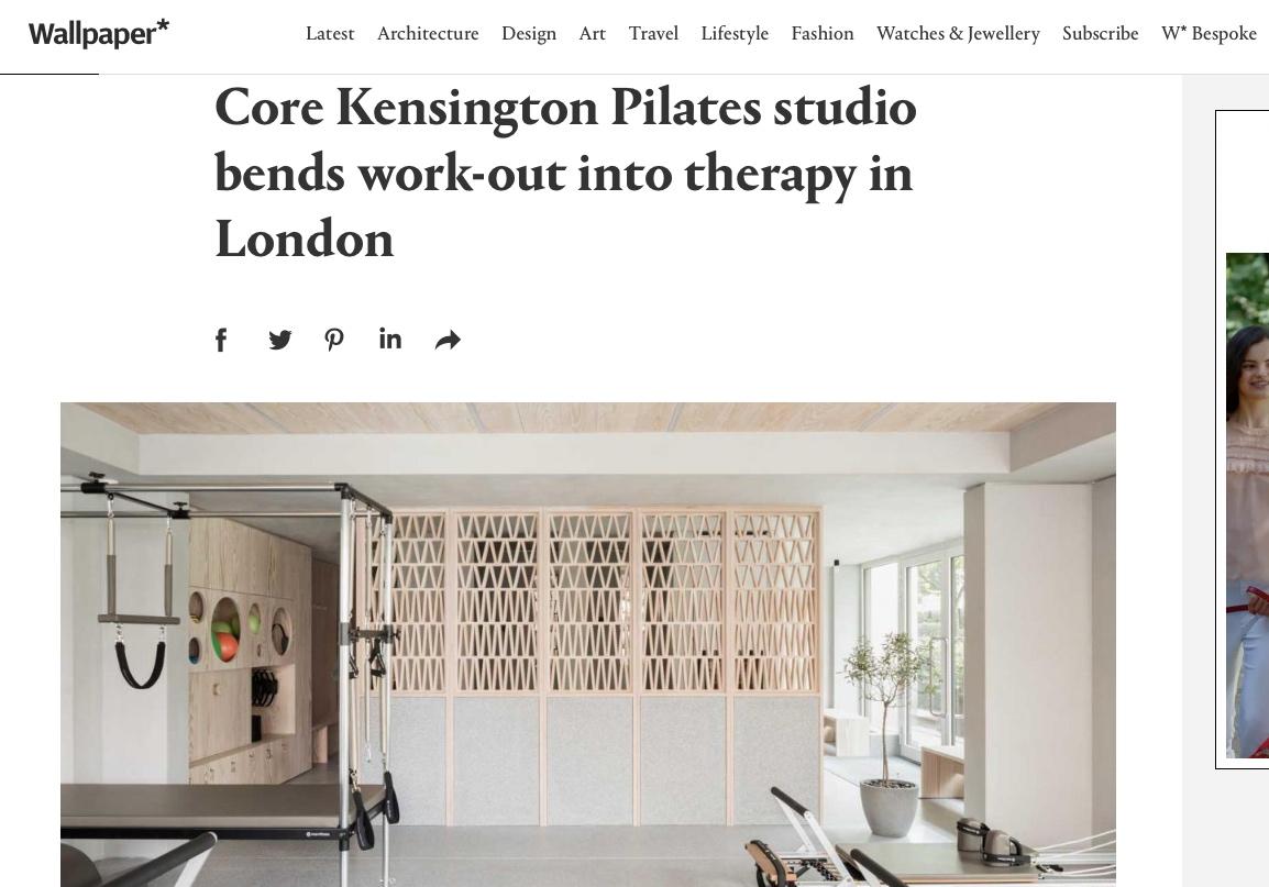 Core Kensington in Wallpaper Magazine