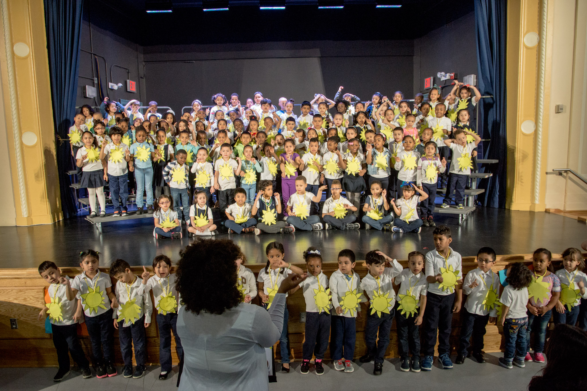 Kindergarten students shined during the P.S. 91 Spring Show Concert Week.