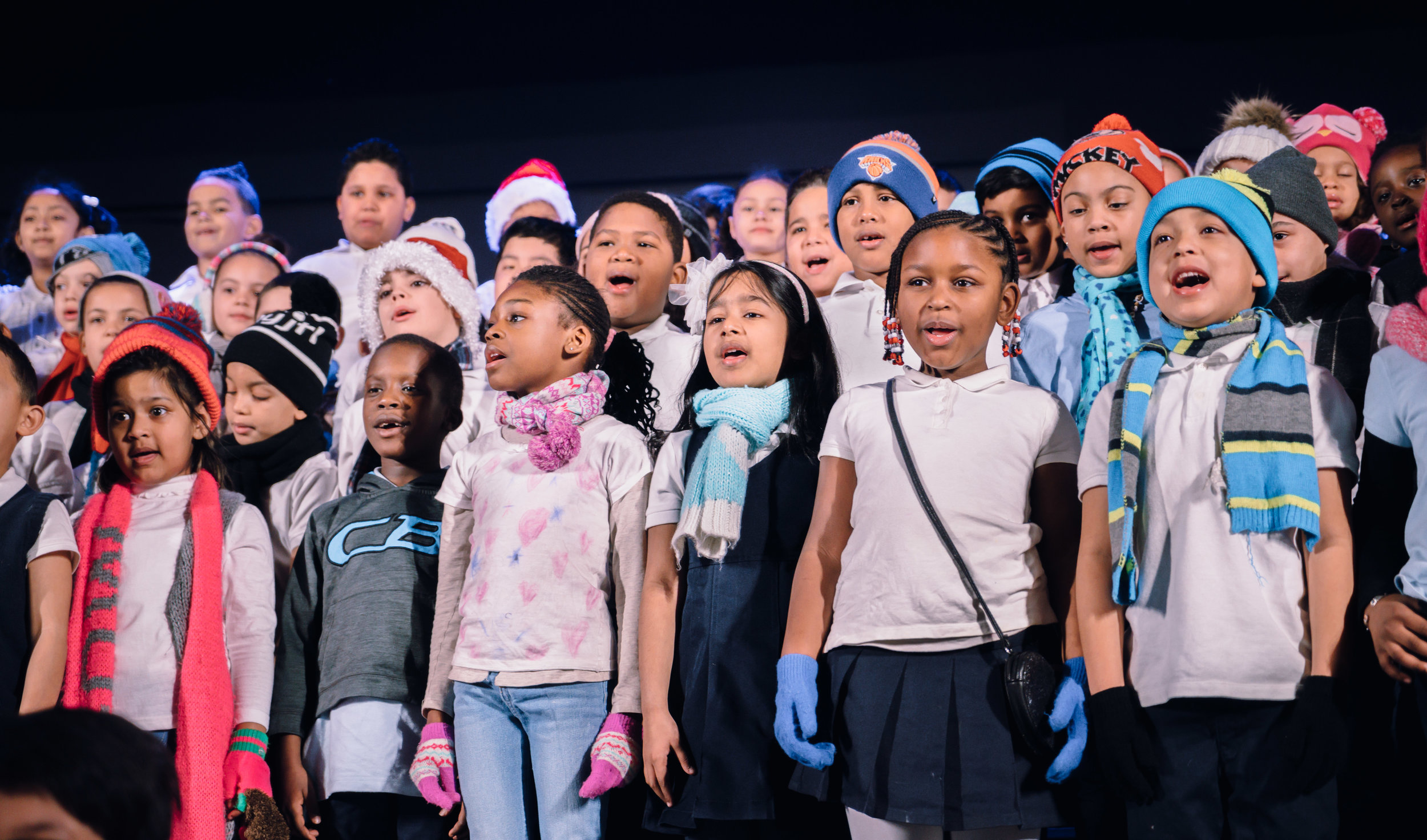 Students in Kindergarten, first grade, and second grade put on awe-inspiring performances.