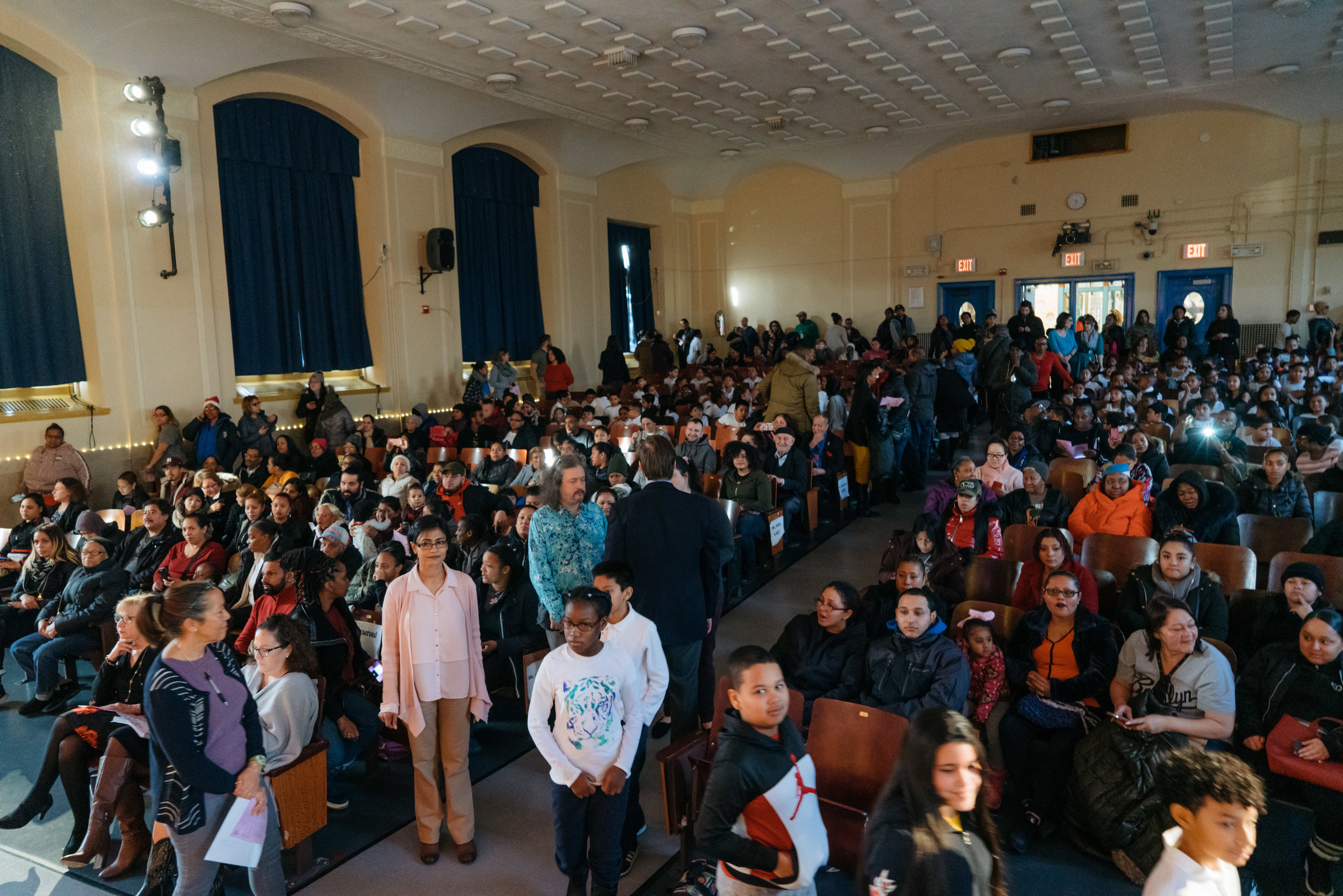 A jam-packed P.S. 91X auditorium awaited gleefully with anticipation as performers took to the stage.