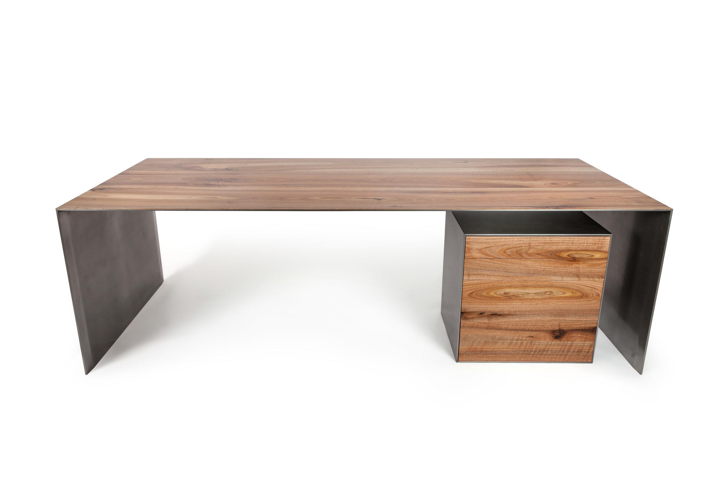 """Офисный стол """"Slimline""""с приставной тумбой"""