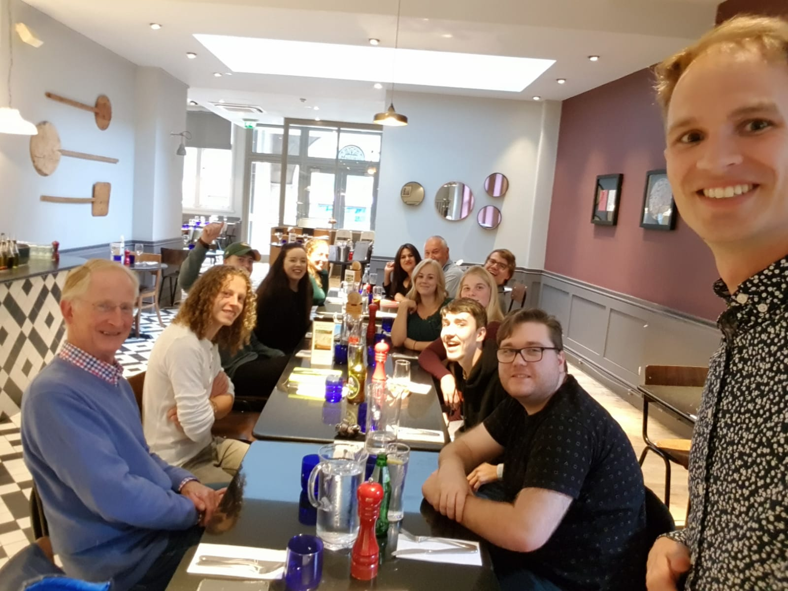 Pizza Express with the young adults!