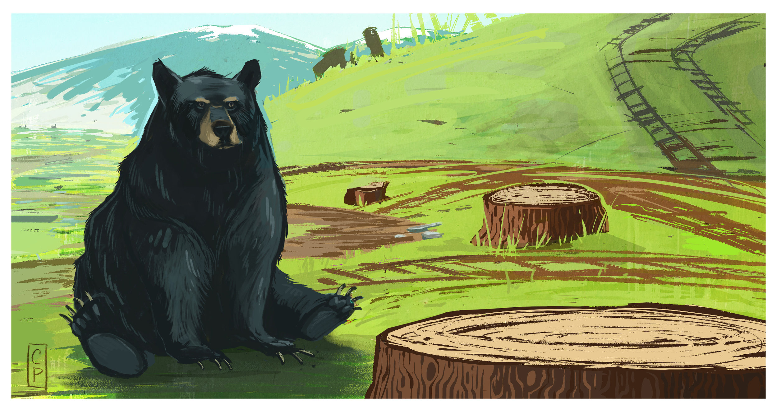 Gone home - Deforestation is on the rise while wildlife populations are dramatically declining. Habitat loss is considered to be the most significant threat to bear species.