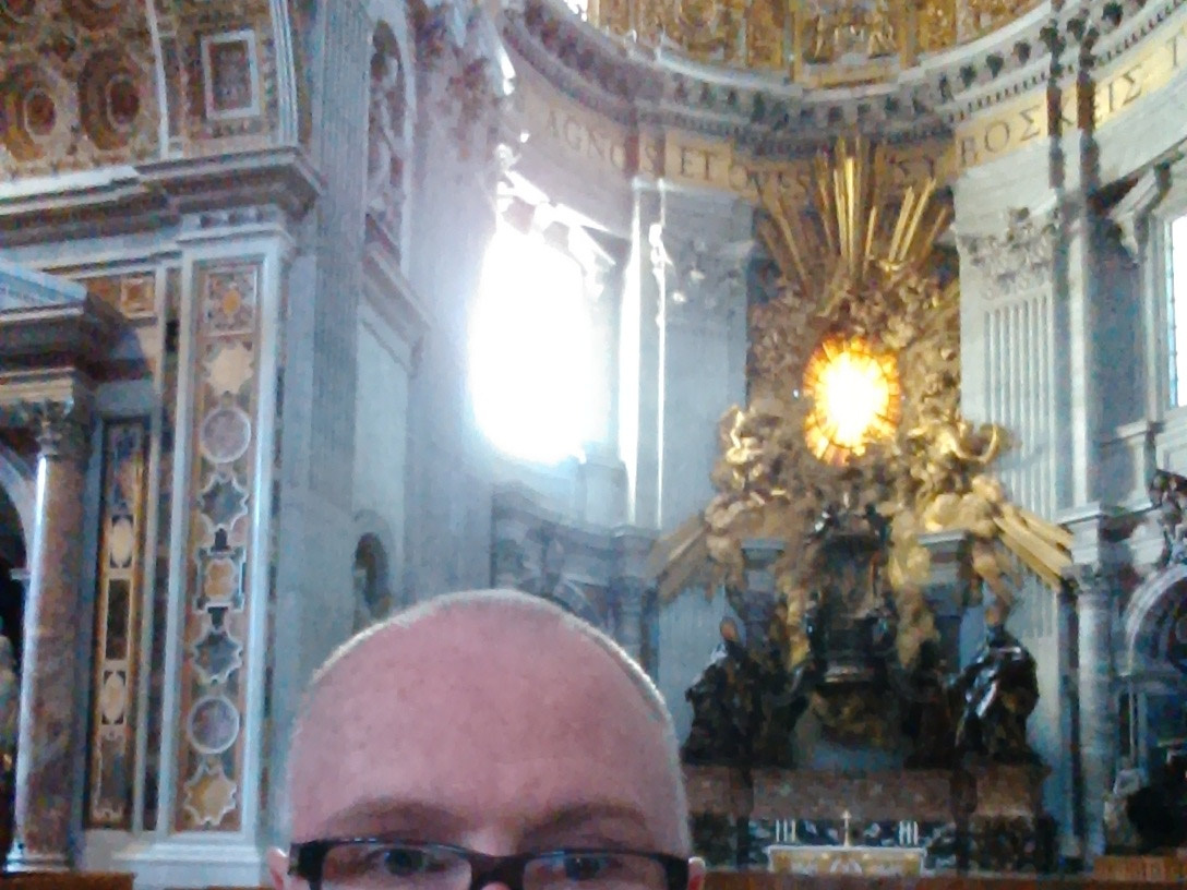 The Rabid Monk's chrome dome meets St Peters Dome