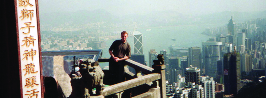 Brian Collins The rabid monk studying metaphysical energy secrets in Hong Kong 1996