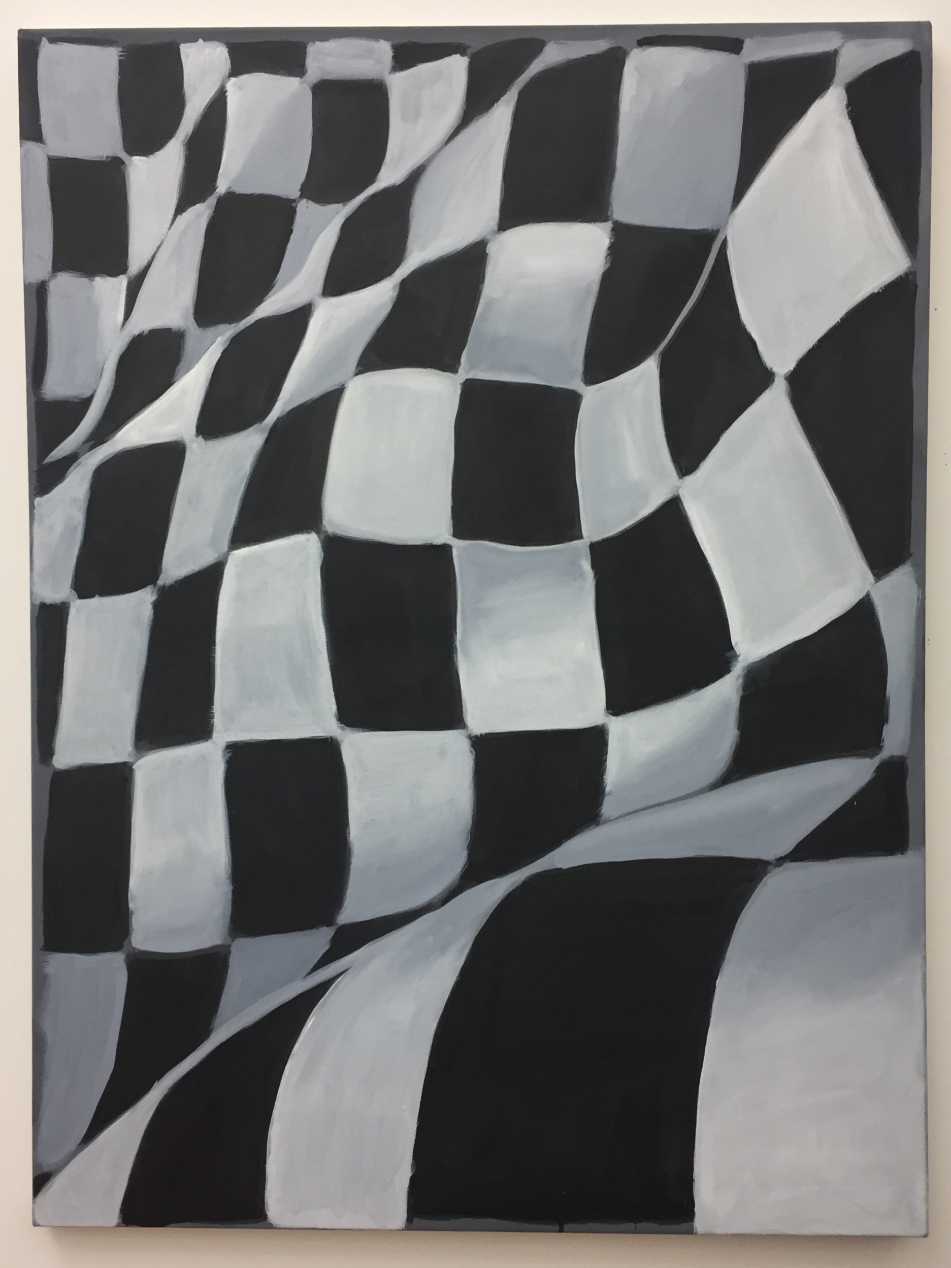 "Finish Line, 2018, oil on canvas, 48"" x 36"" inches"