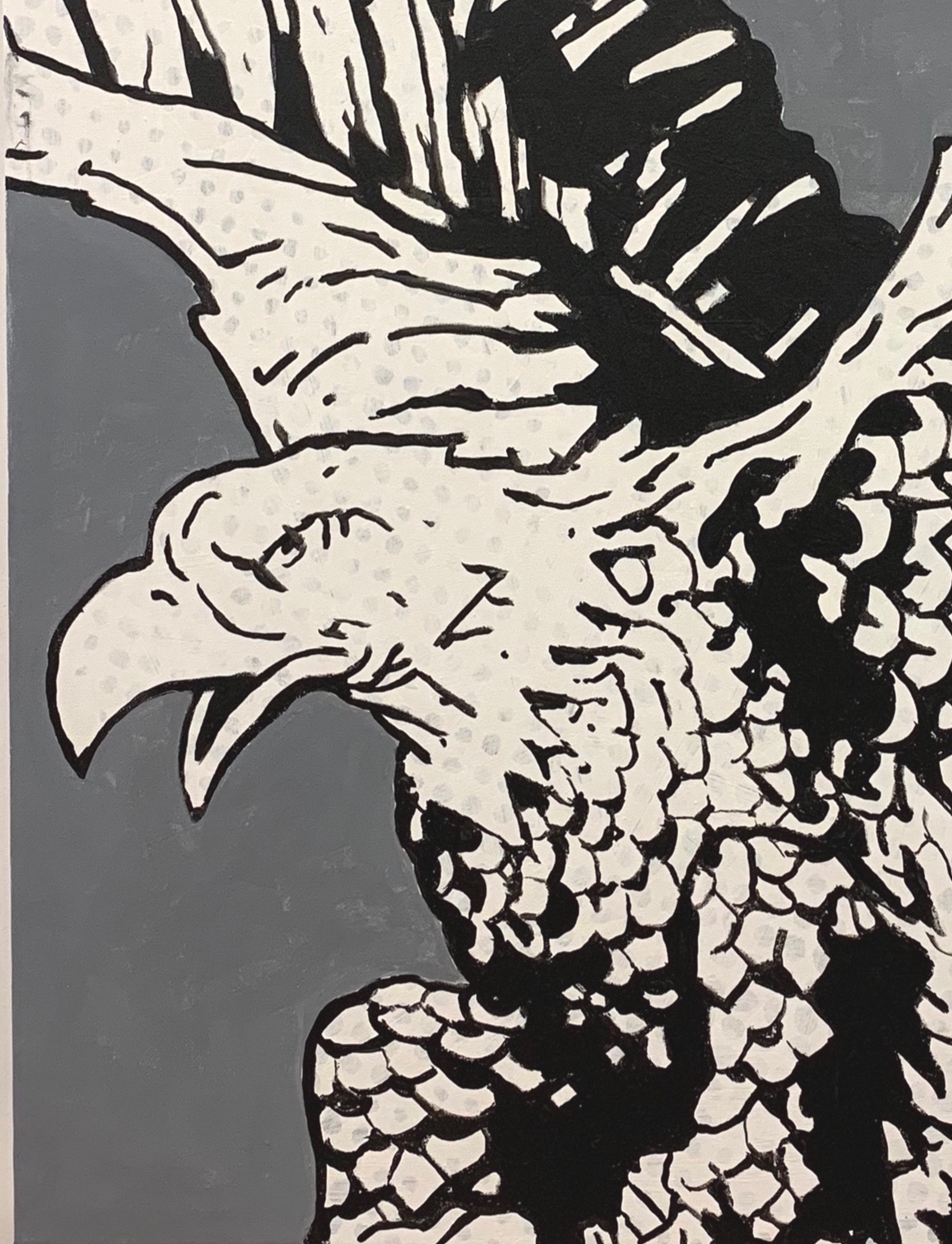 "Eagle, 2019, oil on canvas, 48"" x 36"" inches"