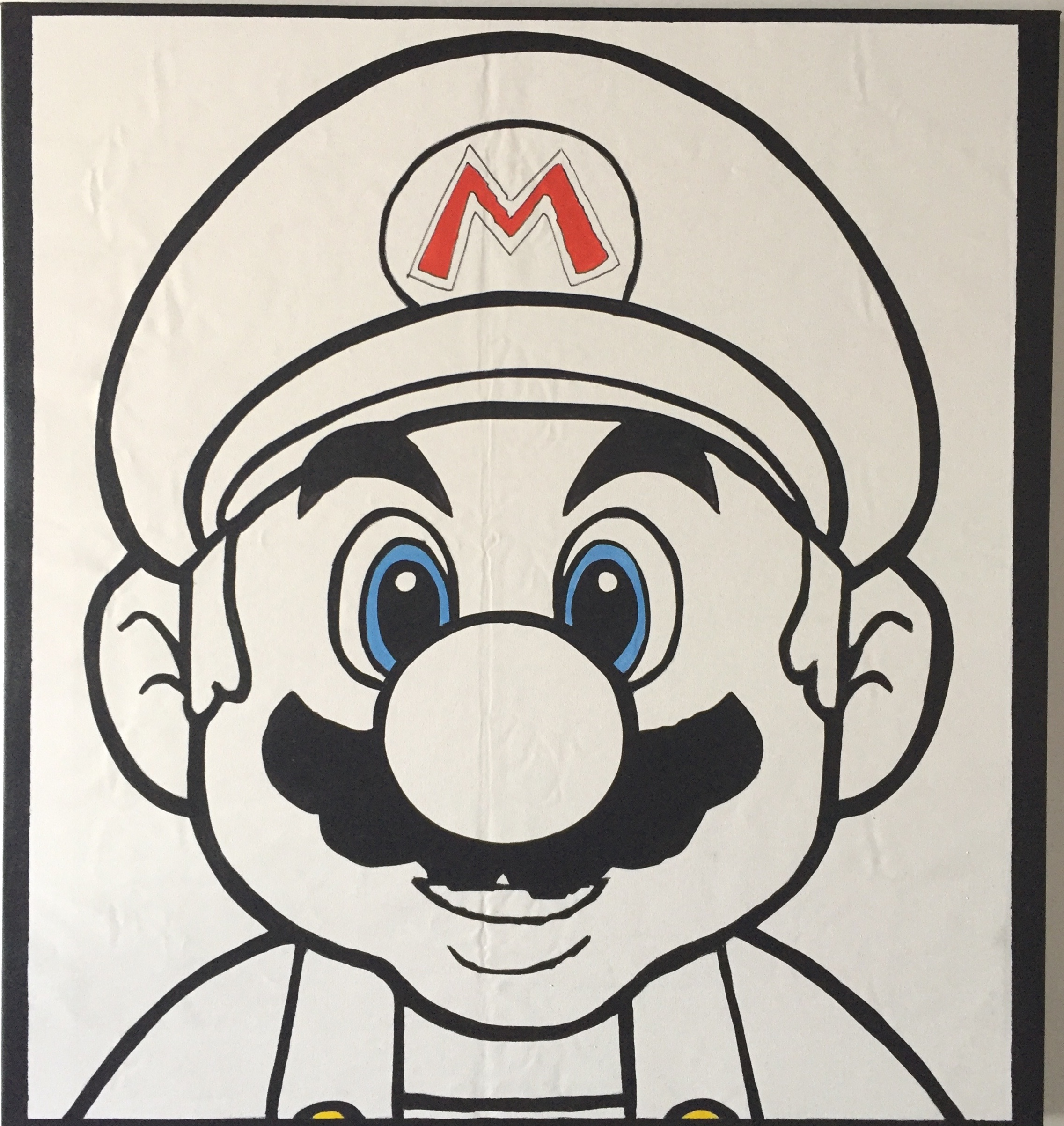 "Mario (Mugshot), 2018, acrylic on canvas, 56"" x 56"" inches"