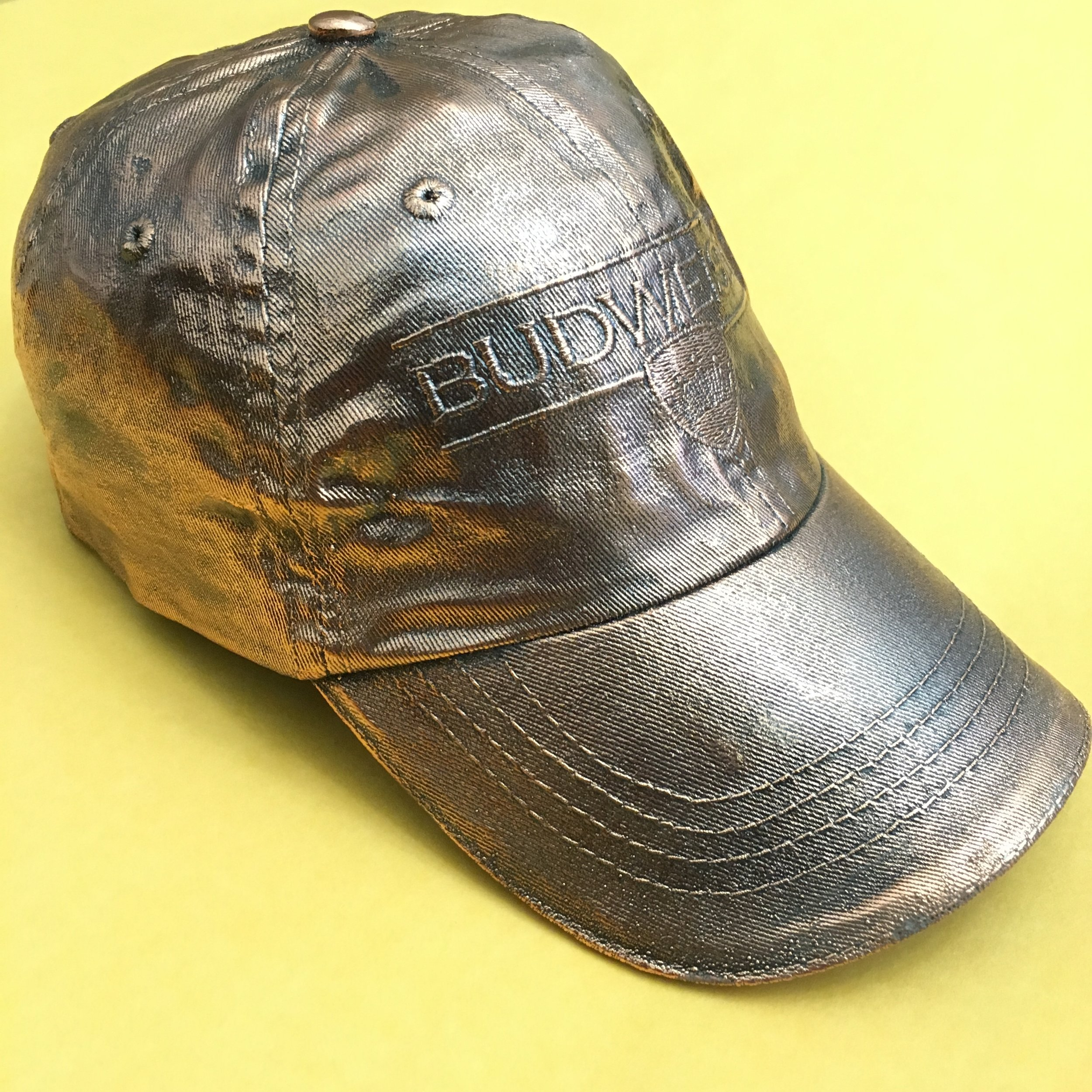 "Budweiser Cap, 2016, copper electroplated hat, 11"" x 8"" x 6"" inches"