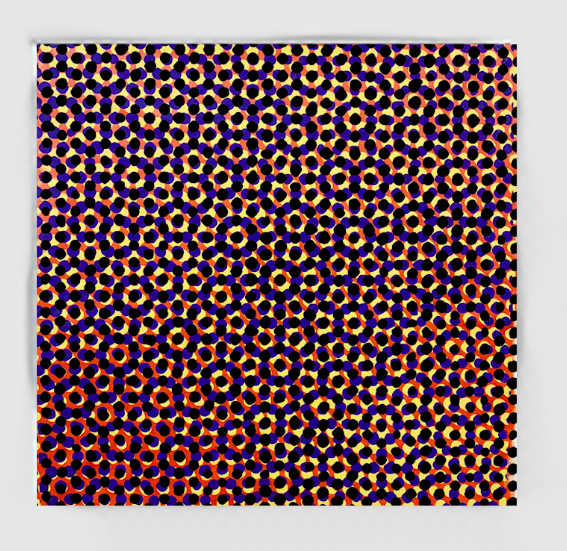 "Hanabi #2, 2019, polymer paint on canvas, 36"" x 36"" inches"