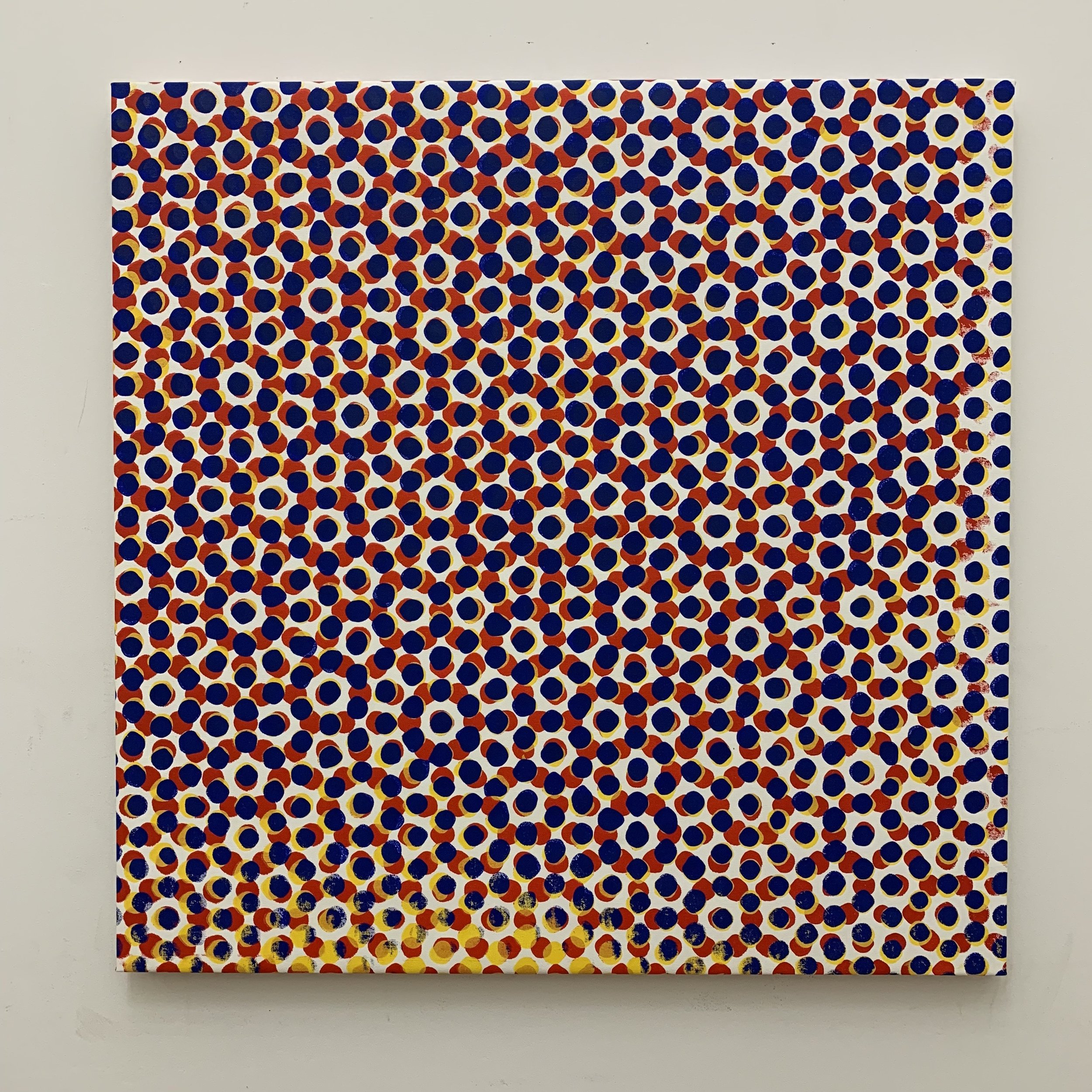 "Hanabi #3, 2019, polymer paint on canvas, 36"" x 36"" inches"