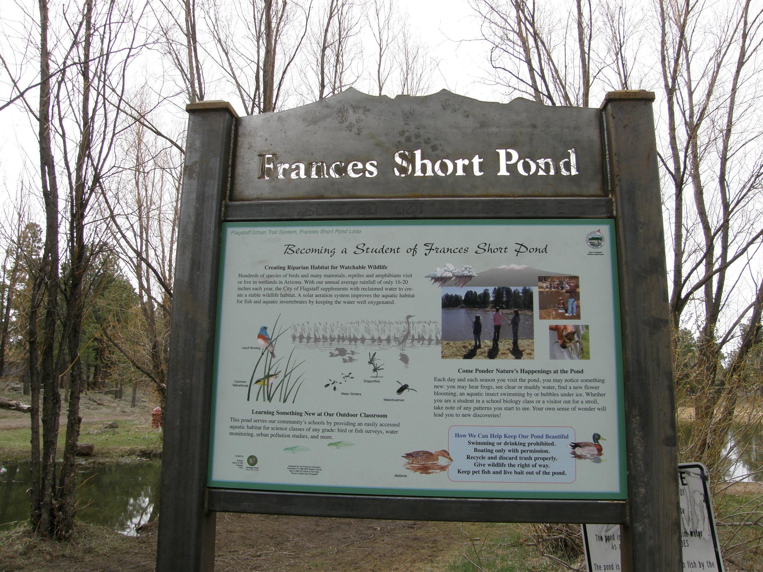 Frances Short Pond Sign