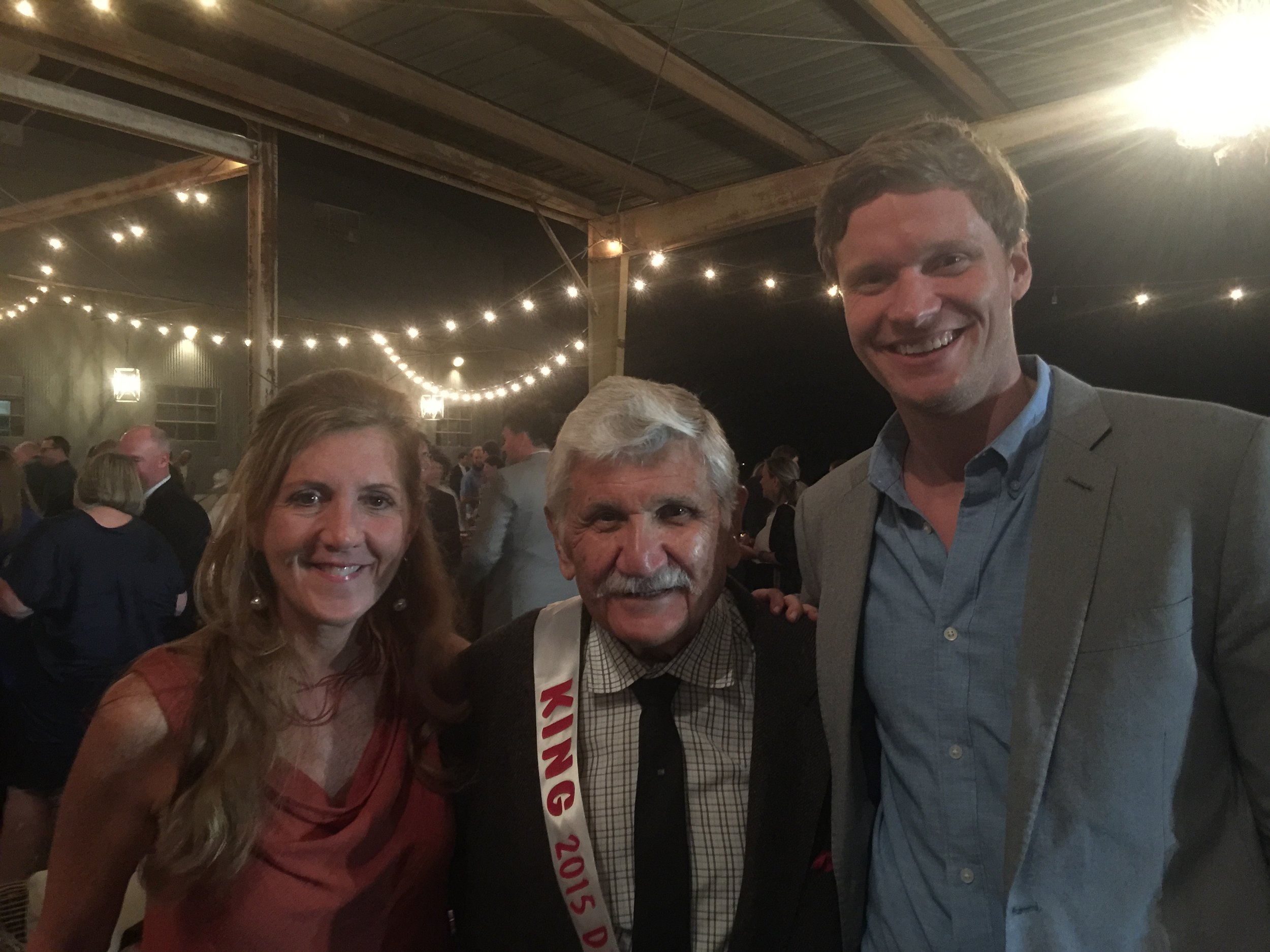 Me, The King of the Delta Hot Tamale Festival, and Andy Nelson of Nelson's Green Brier Distillery