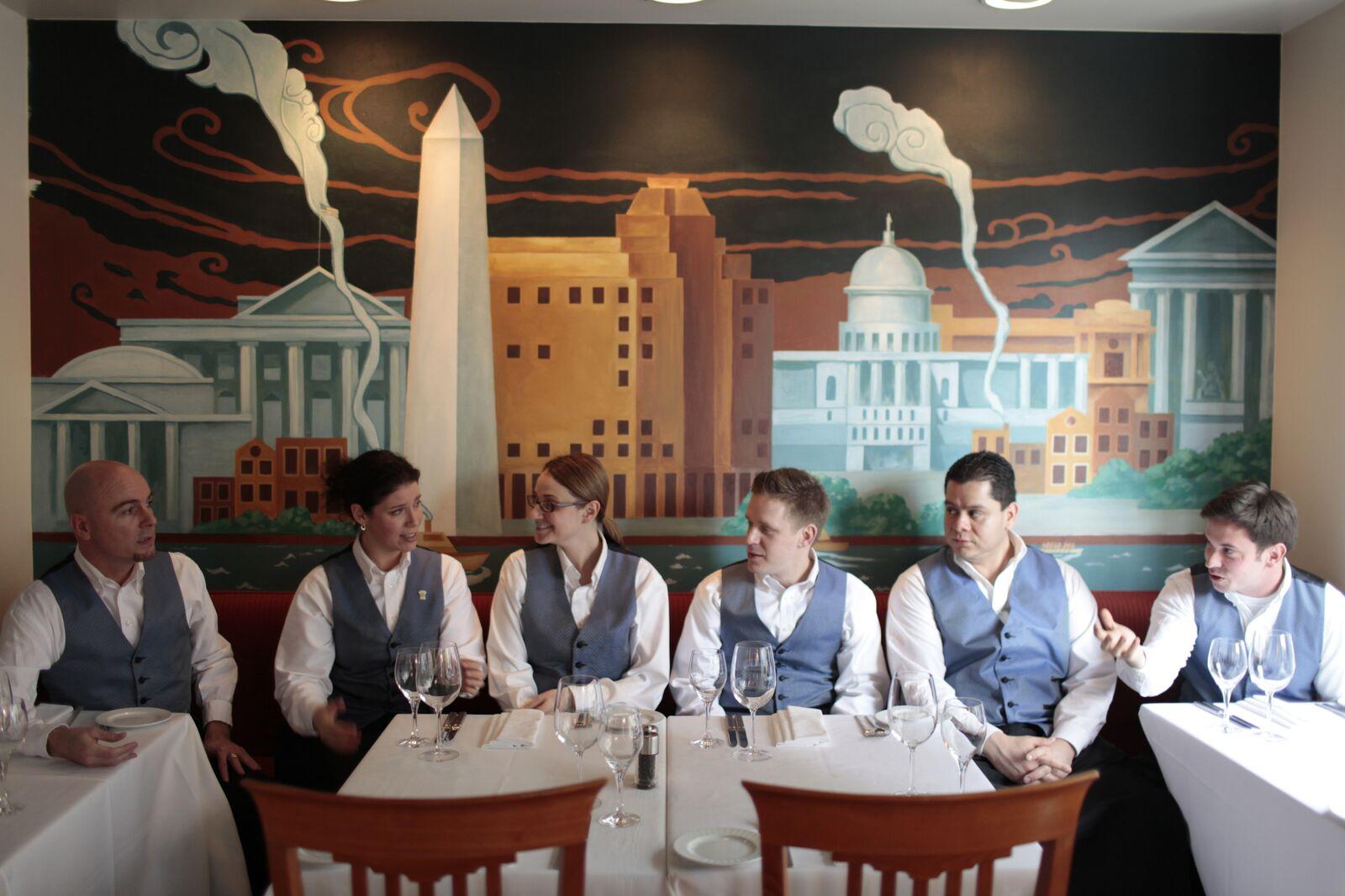 Servers at DC Coast in Washington, DC