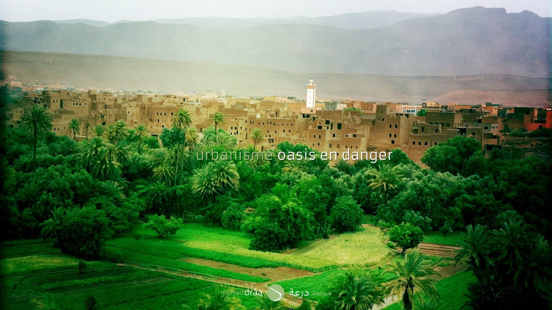 Au même temps, les oasis voient sa surface réduite à cause de l'extension des villes oasiennes, due à la croissance démographique.