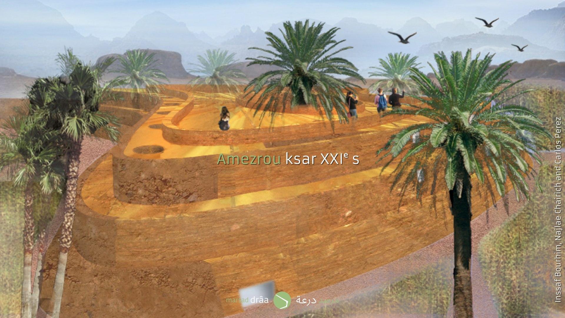 On a essayé, un résolvant le problème des dunes, de faire évoluer l'image traditionnelle de l'architecture en terre, pour une autre plus moderne et adapté aux modes de vie...