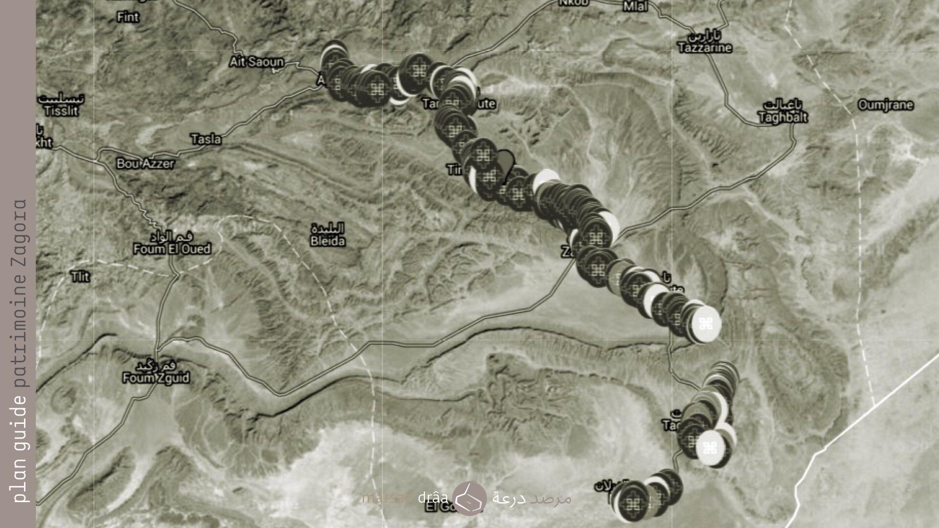 30. Le patrimoine comme source de sagesse et une des raisons pour laquelle nous avons fait le plan guide du patrimoine de la vallée du Drâa avec le CERKAS d'Ouarzazate. Dorénavant on peut trouver sur Google Maps 4 des 7 palmeraies de Zagora, avec la situation des ksour, zaüias et kasbahs, des informations, des photos, des vidéos...     Mezguita: https://www.google.com/maps/d/viewer?mid=zutzExpIIojk.kgQtVZS82WiY&usp=sharing https://plus.google.com/collection/oCo9c     Fezouata: https://www.google.com/maps/d/viewer?mid=zutzExpIIojk.kMuQI18o5J1E&usp=sharing https://plus.google.com/collection/QEv1S     Ktaoua: https://www.google.com/maps/d/viewer?mid=zutzExpIIojk.k_6mzw988glc&usp=sharing https://plus.google.com/collection/cOx3S     M'hamid: https://www.google.com/maps/d/viewer?mid=zutzExpIIojk.kiwb3iBKTQkg&usp=sharing https://plus.google.com/collection/sV3-c